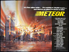 METEOR 1979 Sean Connery, Natalie Wood, Karl Malden, Brian Keith UK QUAD POSTER