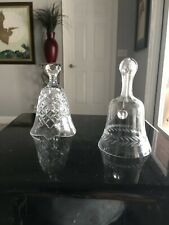 Vintage Waterford Crystal Dinner Bell & a Cut Glass Dinner bell