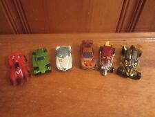 Mix Lot Of 6 Diecast Racing Cars Hot Wheels Mach4 Golden Arrow SurfCrate McD