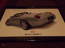 2003 2004 2005 SALEEN FORD THUNDERBIRD SUPERCHARGED FRAMED SHOWROOM POSTER RARE