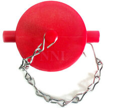 "2-1/2"" NST Poly Plug with Chain For Fire Department Connection, Hydrant Red"