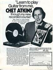 1973 Chet Atkins Guitar Record Course Print Ad