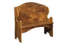 DEACON BENCH Pennsylvania Dutch Antique Reclaimed Barn Wood Plank Dove Tailed