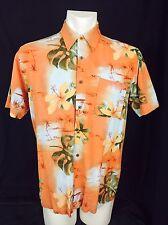 Rayon Barkcloth Look Hawaiin Shirt. Medium. Men's. Hathaway Brand. Excellent.