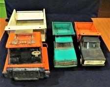 Lot of 3 Vintage metal Structo dump trucks
