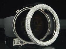 Mens Techno Art Techno Com KC Joe Rodeo Custom White Simulated Diamond Watch