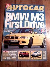 AUTOCAR MAGAZINE 20-SEP-00 - BMW M3 E46, Vauxhall Corsa SXi, Freelander V6