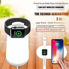 2 in 1 Qi Wireless Charger Fast Charging For IPhone X Samsung iWatch Smart Watch