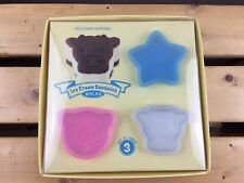 Williams Sonoma Ice Cream Sandwich Molds - Set of 3 - Star, Pig, Cow NEW