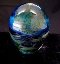 John Lewis Moonscape Vase Paperweight Art Glass '71