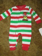 Dr. Suess Grinch Nwt 1 pc striped pajamas size 3 months