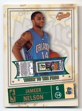2004-05 Authentix JAMEER NELSON 1/1 Rare SP Orlando Magic RC Jersey #14 /25