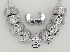 10 Heart Lock  Stopper  Clips  For European Style Bracelet Necklace Jewelry  L05