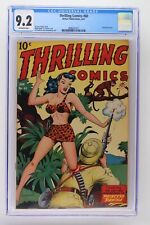 Thrilling Comics #60 - Better Publications 1947 CGC 9.2 Airbrushed cover.