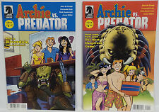 PREDATOR : ARCHIE VS. PREDATOR COMICS 1 & 2 OF 4 SET BY DARK HORSE (TK)