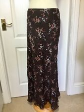 Size 22 Maxi Skirt, M & S Floral, Elasticated Waist, Floaty, Lined, Summer Hols