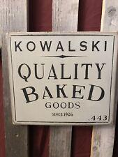 Handmade Sign Free Shipping Kowalski Baked Goods
