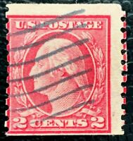 US Stamp SC #453 2c Washington Used Coil Perf. 10 CV:$45