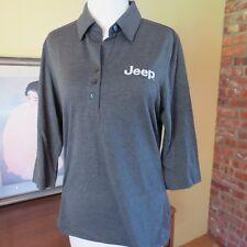 Cutter & Buck Women's Gray Drytec Jeep Embroidery 3/4 Sleeve Polo Medium