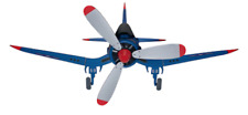 F4U Corsair Airplane Replica Ceiling Fan 48-in 3-blade Flush Mount
