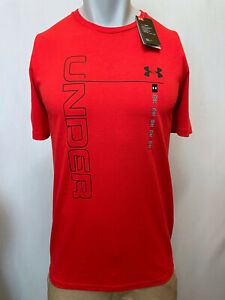 """New Under Armour Men's T-Shirt, """"Vertical Logo,"""" Mult Colors, S-XL, Athletic Fit"""
