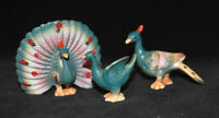 Japan Bone China Peacock Family Figurine
