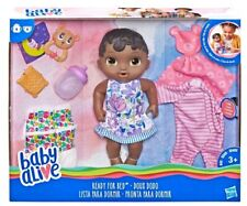 "Baby Alive ""Ready for Bed"" Black African American Doll 11"" Pajama Set Rare"