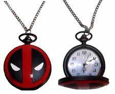 Red/Black Pocket/Pendant Watch Marvel Comics Deadpool Logo