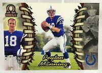 1998 Pacific Omega PEYTON MANNING Indianapolis Colts Rookie RC Card #101