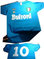 t-shirt maglietta cotone buitoni 10 senza scritta maradona maglia napoli fra