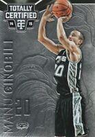2014-15 Totally Certified Basketball #100 Manu Ginobili San Antonio Spurs