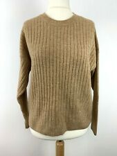 Womens Size 12 Uk Knit Sweater Jumper Top Brown Color *11