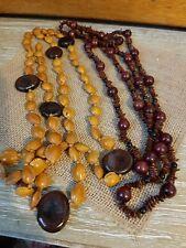 Two Long string  Natural Boho Beads