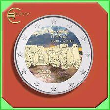 """2 Euro Gedenkmünze Malta 2016 """" Tempel von Ggantija """", coloriert, Coin Coins"""