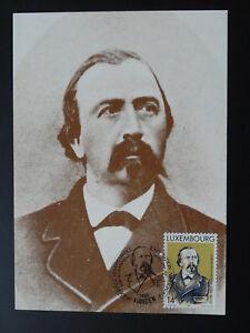 writer Edmond de la Fontaine Dicks literature  maximum card Luxembourg 1991