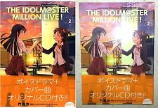THE IDOLM@STER Million Live! Vol 2 Manga Special Ed w/ CD Syogakukan Licensed NW