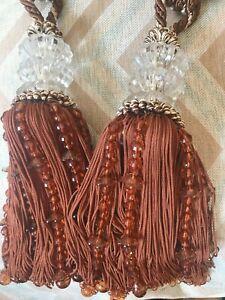 Chunky Beaded Curtain Tie Backs