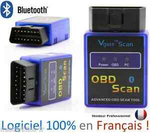 Interface Diagnostique MULTIMARQUES VGATE SCAN BLUETOOTH ELM327 VAG COM OBD2