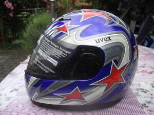 UVEX V1 Vollvisierhelm Integralhelm Helm Motorradhelm Sturzhelm Motorroller Neu