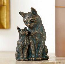Bronzefigur Schmusekatzen Katzen Mutter mit Kind 16 | Bronze Skulptur Rottenecke