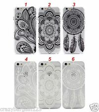Henna Floral Flower Paisley DreamCatcher for iPhone 5s, SE, 6,6s Hard Case Cover