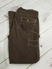 OLD NAVY BRAND BLUE Jean Pants Womens Corduroy Carpenter Jeans Size 16 Inseam 32