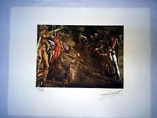 Salvador Dali Litografia 50 x 65 Bfk Rives Timbro a secco Firmata a Matita D136