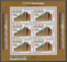 2017 Kazakhstan  Europa 2017 Castles  Mini sheet MNH