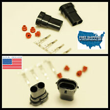 H11 H9 H8 Male connector HID Plug Socket adaptor NEW cap cover H11 adapter 2x