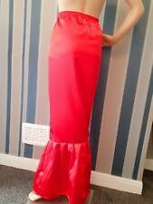 8-28 Ankle,Long,Maxi, Mermaid,Fishtail ,Trumpet,,tight,Fitted Satin,Skirt