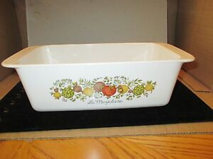 "Vintage CORNING Ware Bakeware ""SPICE OF LIFE"" Loaf Pan P-315-B"