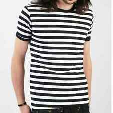 MENS stripey tee t-shirt various colours indie mod stripes new