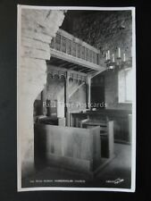 Yorkshire HUBBERHOLME Church ROOD SCREEN - Old RP Postcard by Walter Scott 12010
