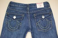True Religion Joey Big T Flare Jeans Women's Size 29 Dark Wash Denim